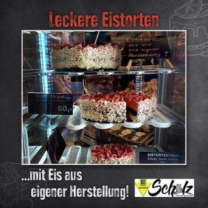 Auslage Eistorten E-Center Scholz