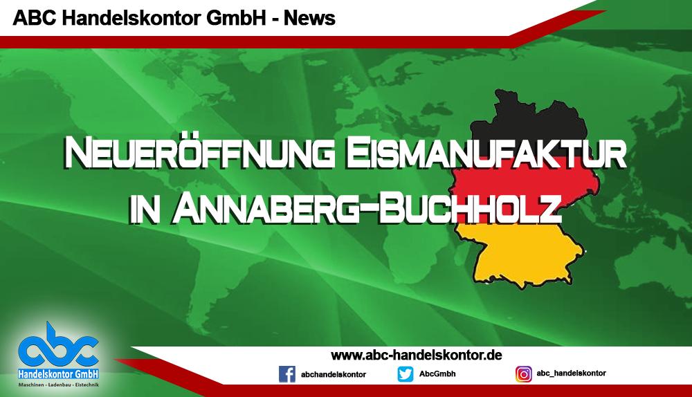 Eismanufaktur Lipp in Annaberg-Buchholz kurz vor der Eröffnung
